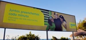 Billboard in Mozambique