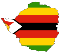 Flag Map of Zimbabwe